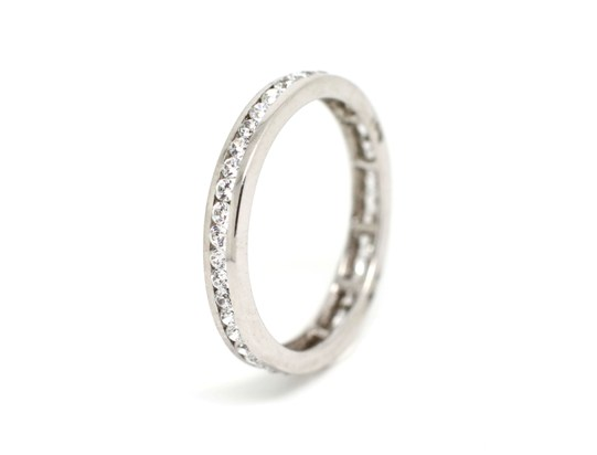 Ref: OALR1335B 19.2 K Gold White Gold+Diamond Weight: 2.6 gms Brand: Romantis Price: 2.195€