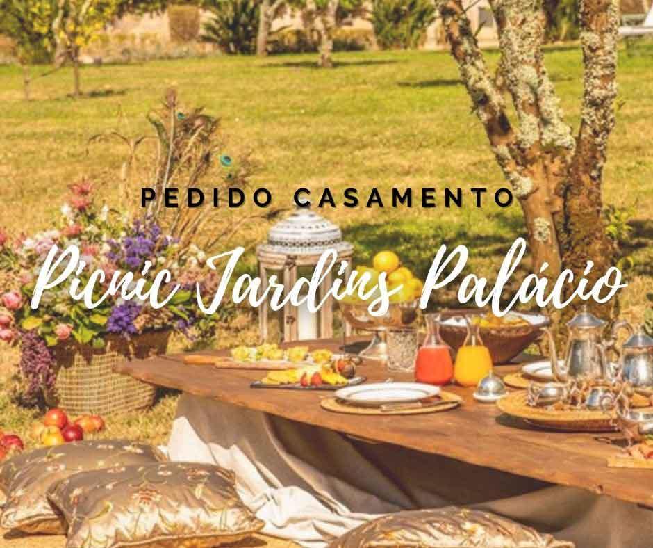 Pacote Pedido Casamento Picnic - Picnic nos Jardins do Palácio